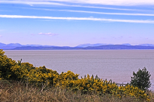 The Lake District fells from Morecambe Bay, Heysham Lancashire - photo zoe dawes
