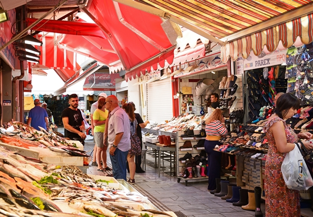 Market in Crete Greece