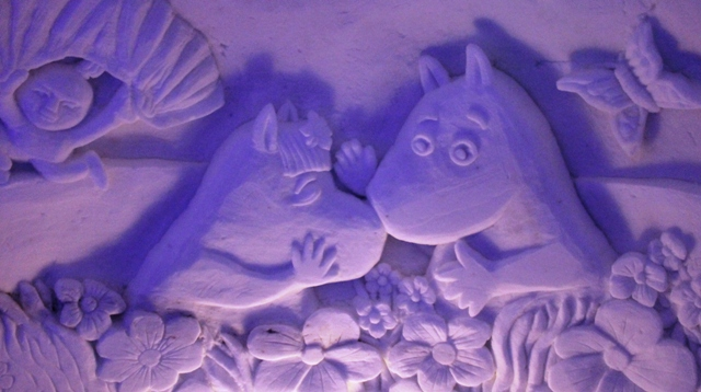 Moomintroll and Snork Maiden in Kirkenes Snow Hotel - Norway