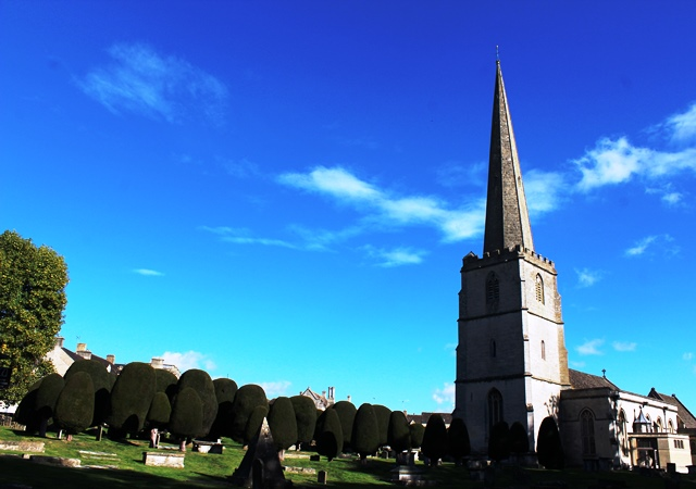 St Mary's Church and Yew Trees Painswick - photo zoe dawes