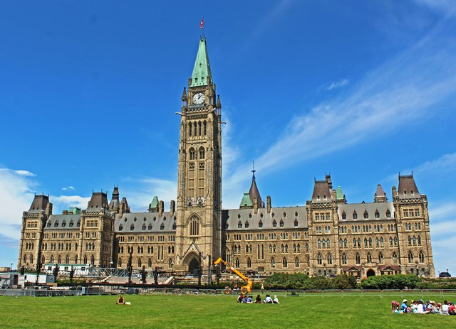 The Parliament Building with Peace Tower Ottawa Canada 150