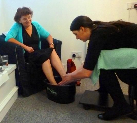Fiona pedicure at Bellissimo Beauty Salon, Kendal