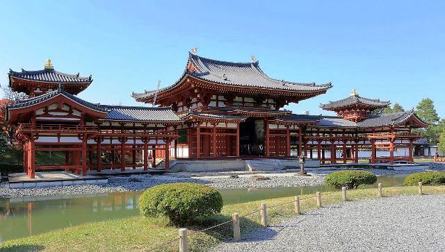 Phoenix Hall Byodo-in Buddhist Temple Kyoto Japan - photo Martin Falbisoner
