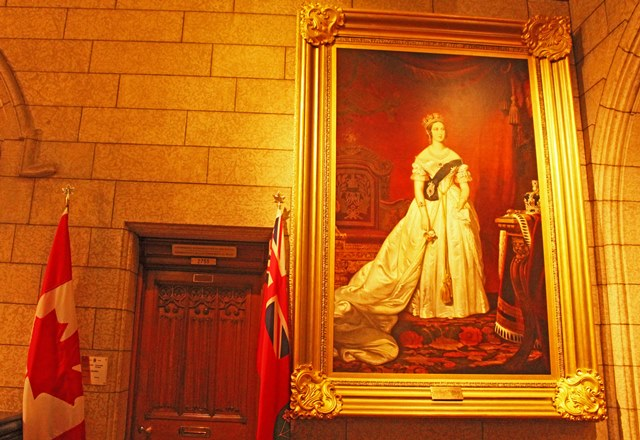 Portrait of Queen Victoria in Ottawa Parliament Canada 150
