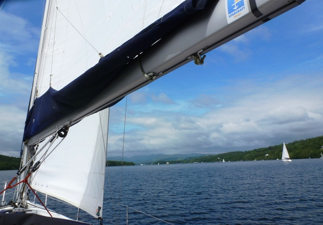 Sailing back along Windermere