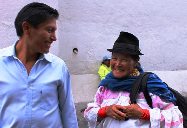 Smiling people of Quito Ecuador