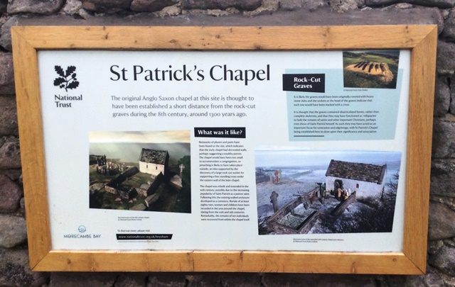St Patrick's Chapel National Trust Information Board