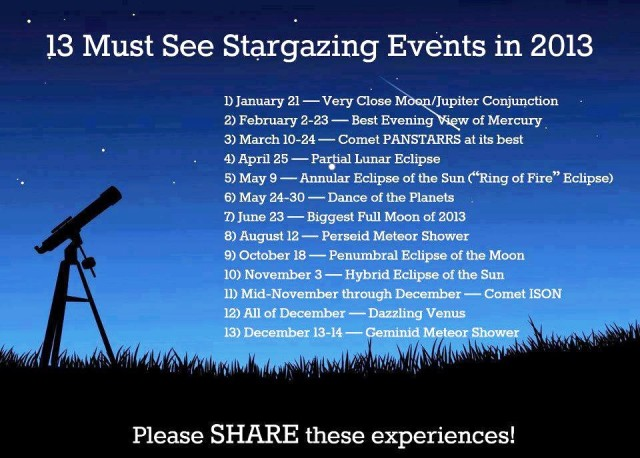 Stargazing events 2013 imgur.com