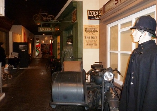 Wartime street in German Occupation Museum, Guernsey - by Zoe Dawes