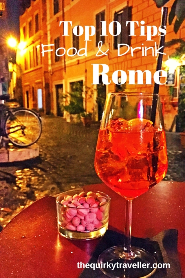 Top 10 Food and Drink Tips - Rome Italy