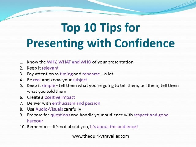 Top  Presentation Skills Tips The Quirky Traveller Blog