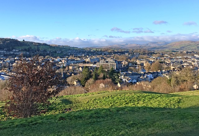 Kendal Town and River Kent from Kendal Castle - photo zoedawes