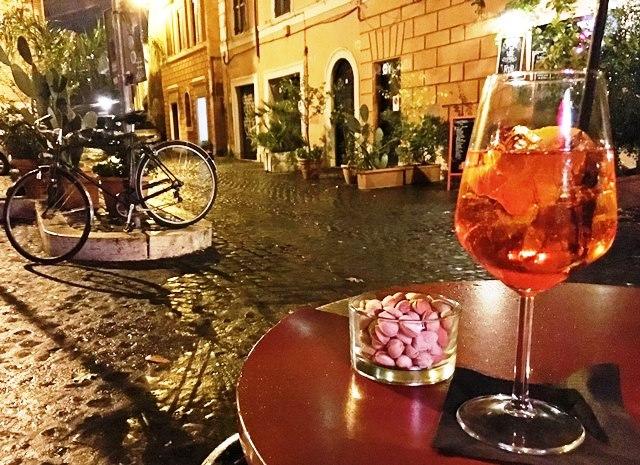 Aperol Spritz in Trastevere Bar, Rome
