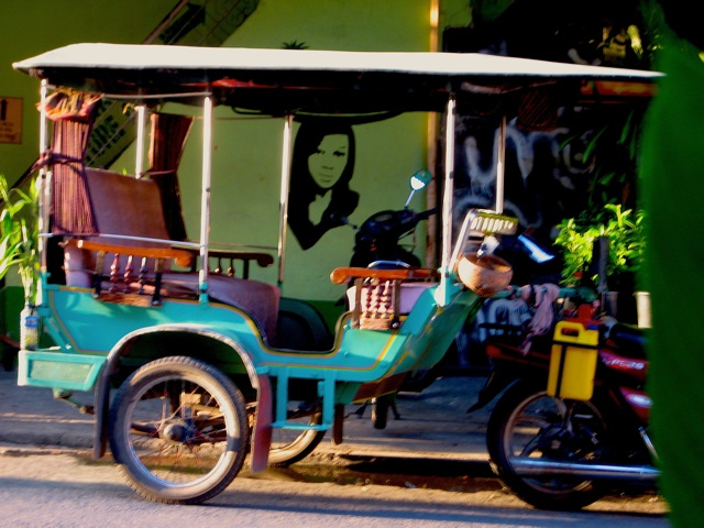 Tuk tuk in Cambodia