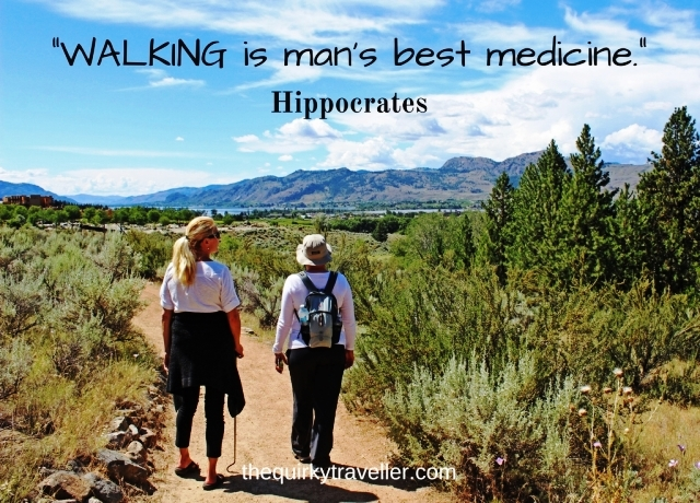 Walking is man's best medicine - Hippocrates Photo: Nk'Mip Desert Centre, Osoyoos Canada