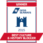 Winner DFDS Best Culture and History Travel Blogger - zoe dawes