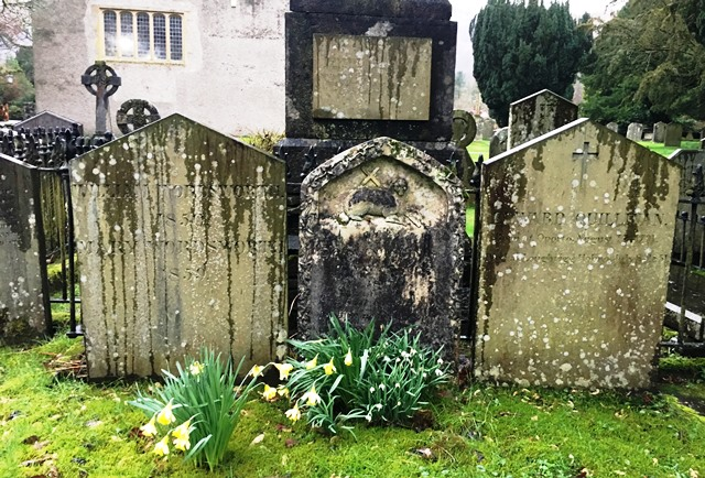 Wordsworth family graves Grasmere Lake District