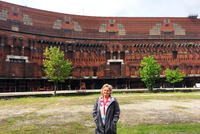 Zoe Dawes at Congress Hall Nazi Party Rally Grounds Nuremberg Germany