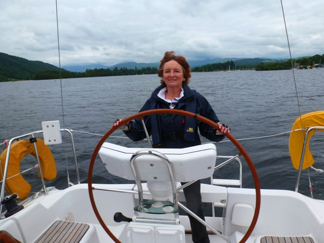 Zoë sailing on Windermere