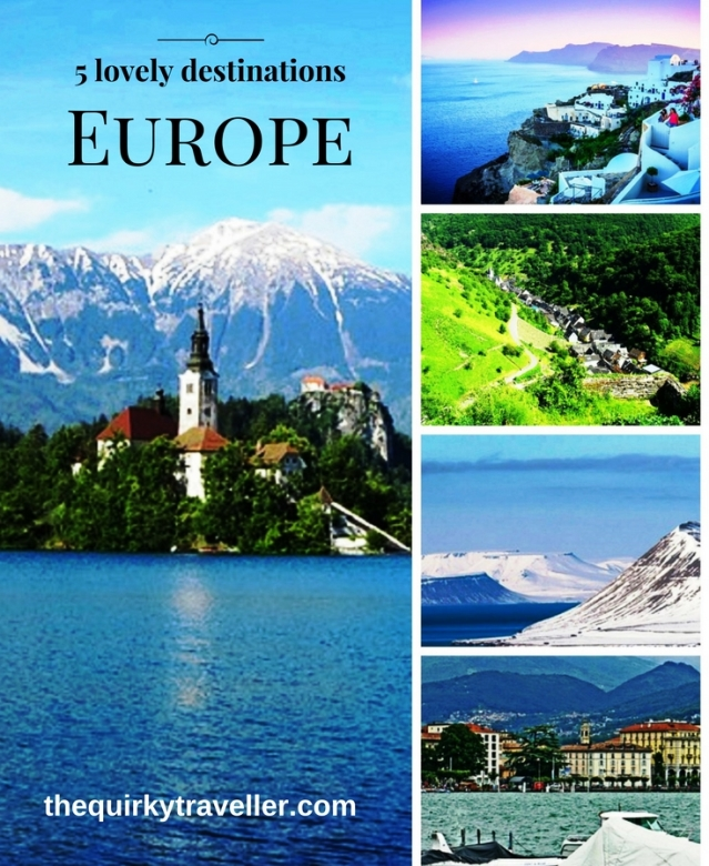 5 beautiful destinations in Europe
