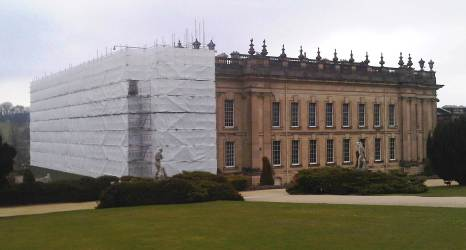 Chatsworth under cover