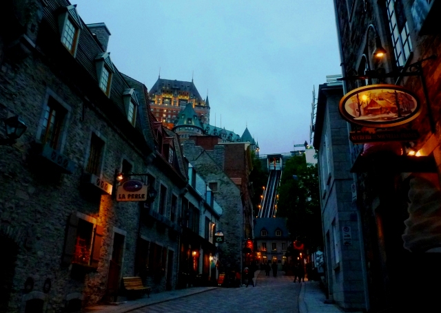 Quebec City, Canada in the evening - image Zoe Dawes