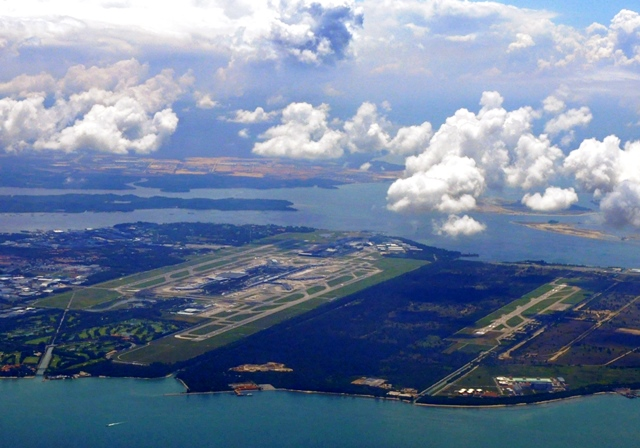 Aerial View of Changi Airport Singapore - photo Pulkitsangal