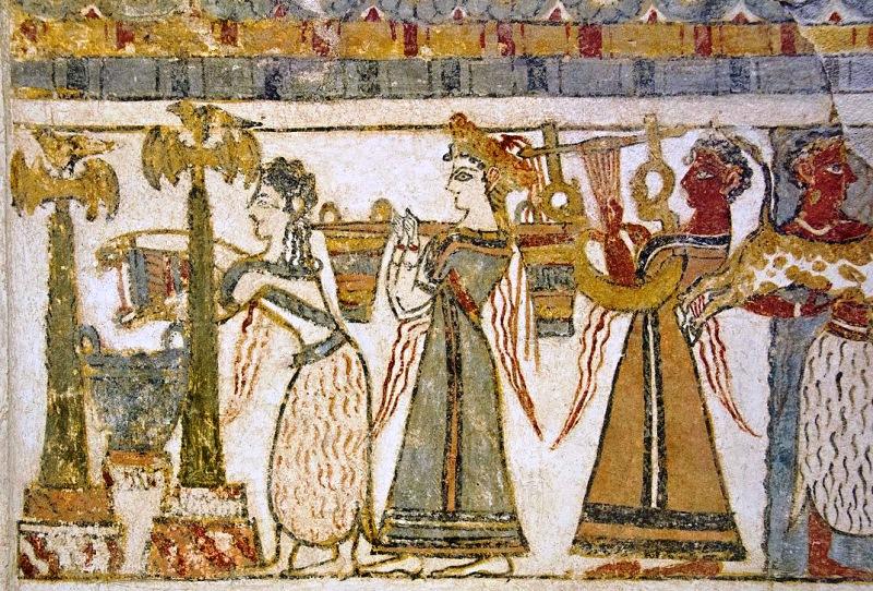 Procession of Women - Aghia Triada Crete - photo Zde