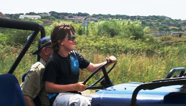 Alex driving Willies Jeep Menorca