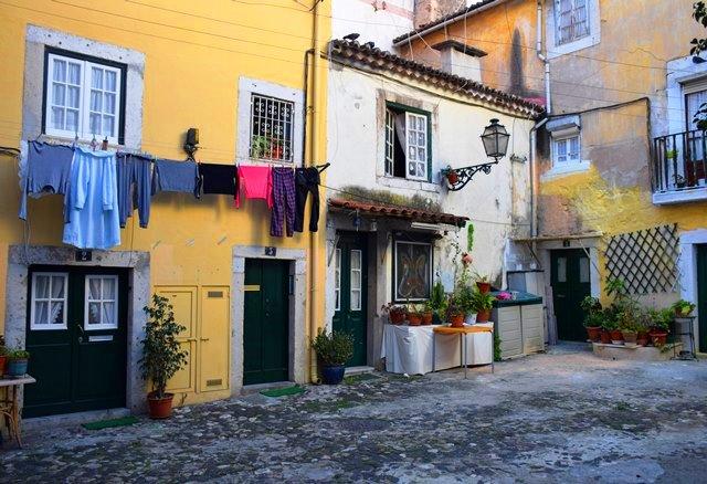 Alfama courtyard Lisbon