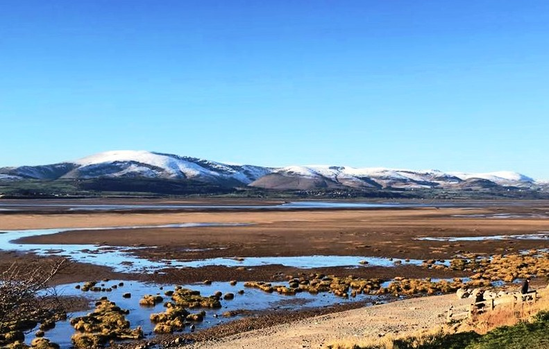 Winter's day on Askam-in-Furness Beach in Cumbria