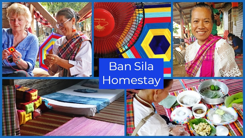 Make Isan Flag at Ban Sila Homestay North East Thailand - The Quirky Traveller