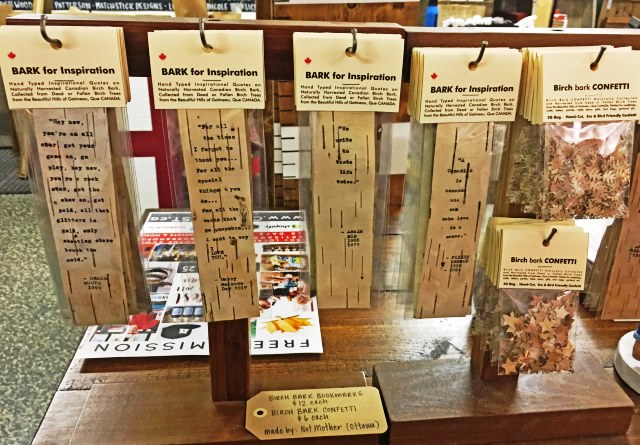 Birch Bark bookmarks Ottawa