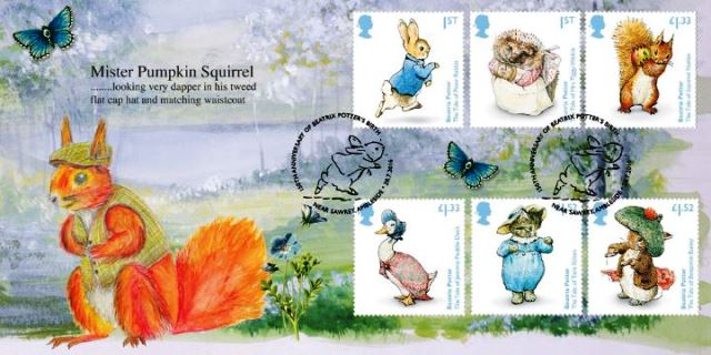 Beatrix Potter commemorative stamps