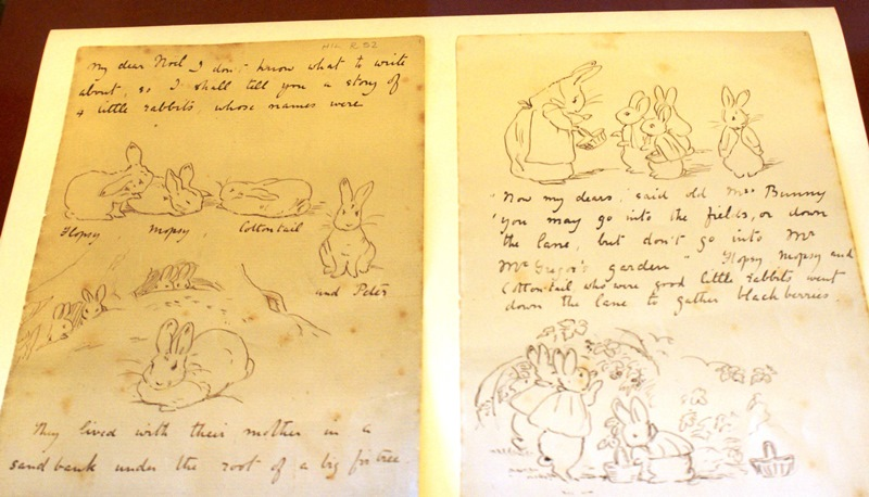 Beatrix Potter Hawkshead Gallery Peter Rabbit letter - photo Zoe Dawes