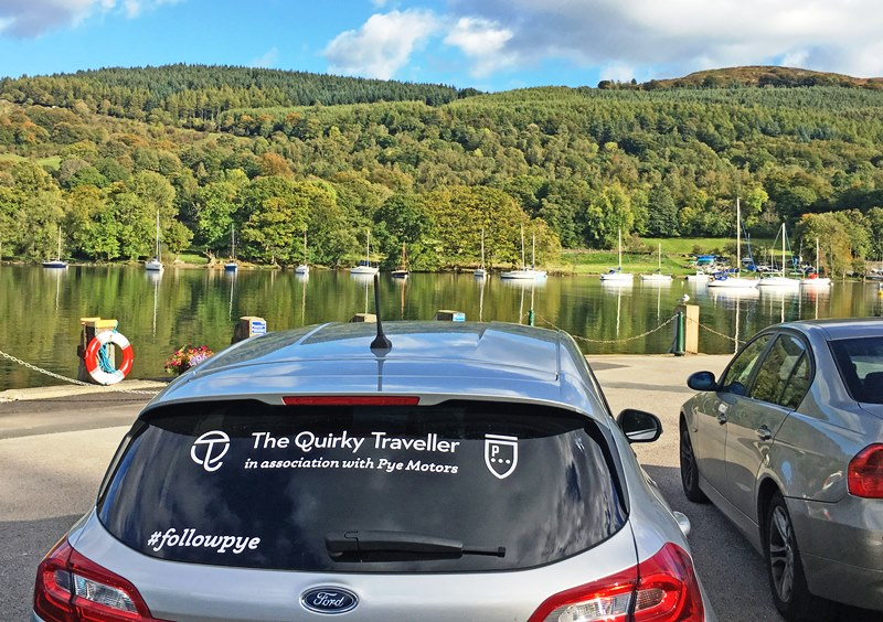 Quirkymobile beside Windermere at Lakeside