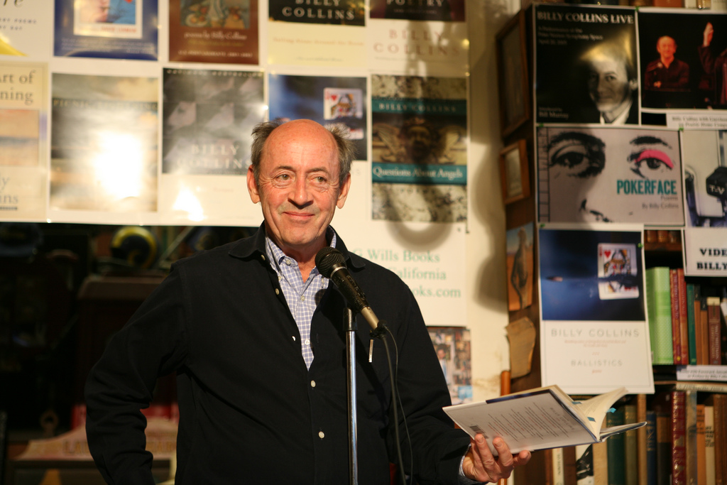 Billy Collins at D.G. Wills Books, La Jolla, San Diego USA 2008 Photo by Marcello Noah