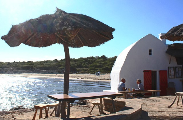 Binibeca Beach Bar lspring sun on Menorca - image zoedawes