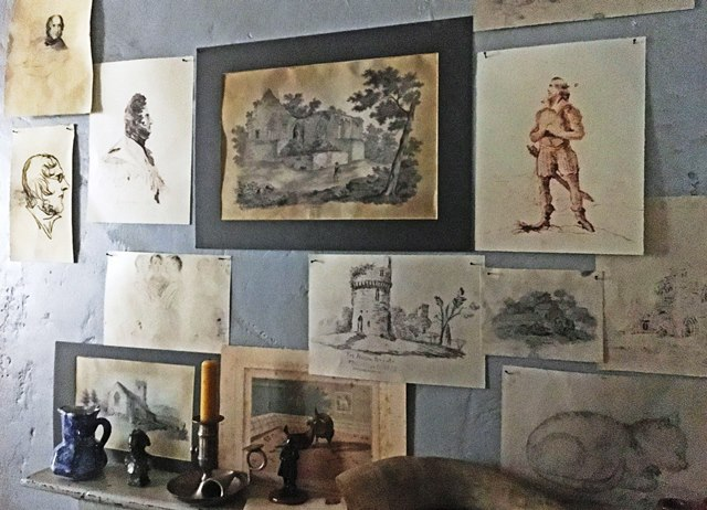 Sketches by Branwell Bronte - Haworth Parsonage Yorkshire