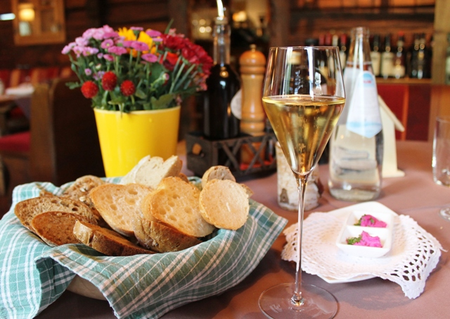 Bread and wine at Pretzhof, South Tyrol Italy - zoedawes