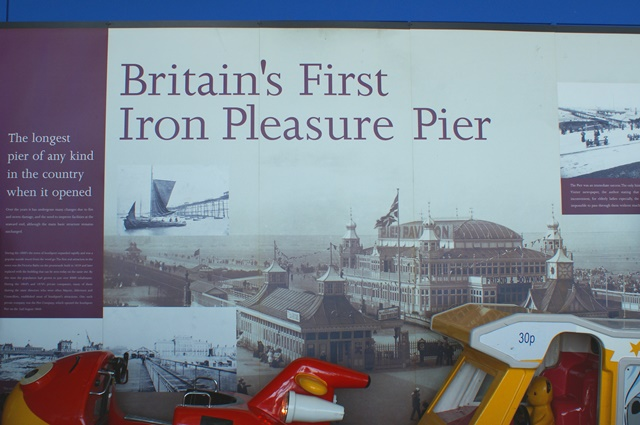 Southport pier - first iron pier in Britain - photo Zoe Dawes