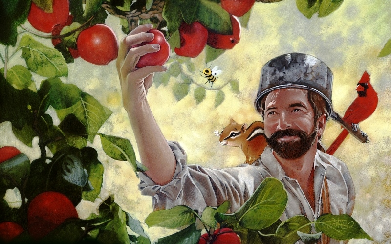 Johnny Appleseed - painting by Brunet