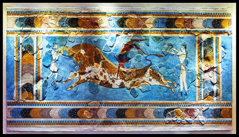 Bull-leaping fresco from Knossos