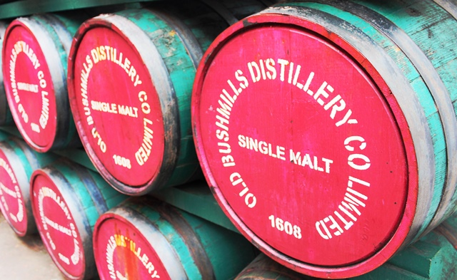 Bushmills Distillery whiskey barrels - Northern Ireland zoedawes