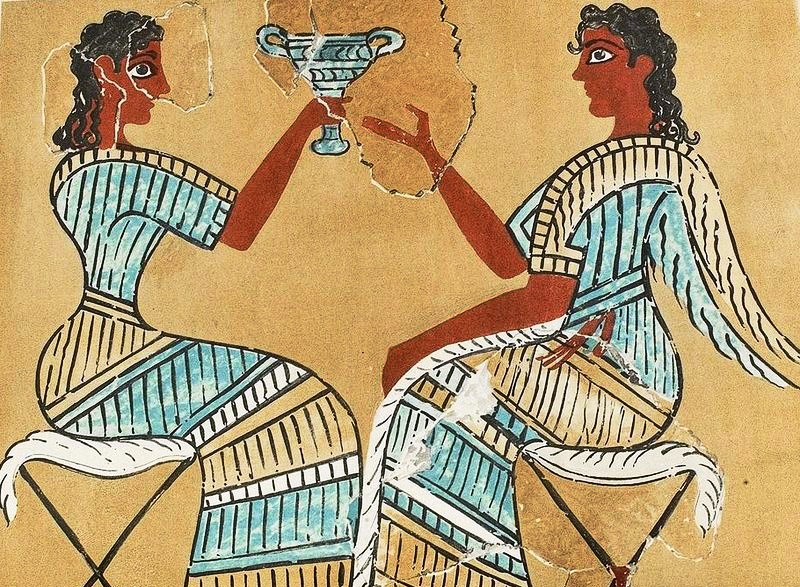 Campstool Fresco found at Knossos in Crete