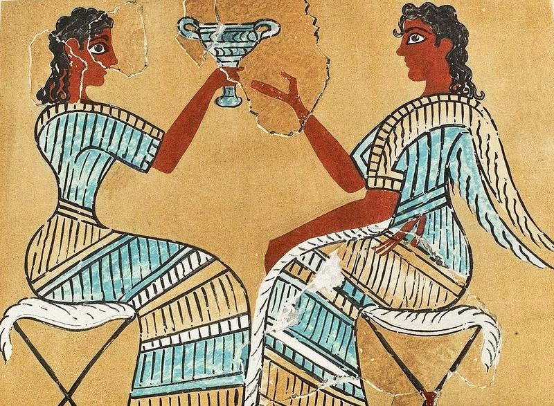 Campstool Fresco found at Knossos in Crete