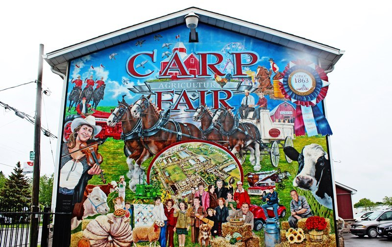 Carp Agricultural Fair mural - days out from Ottawa Canada