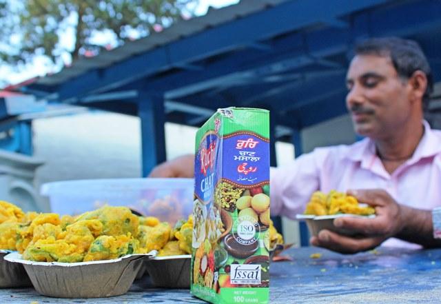 Chaat seller at Salogra on the Kalka-Shimla Toy Train