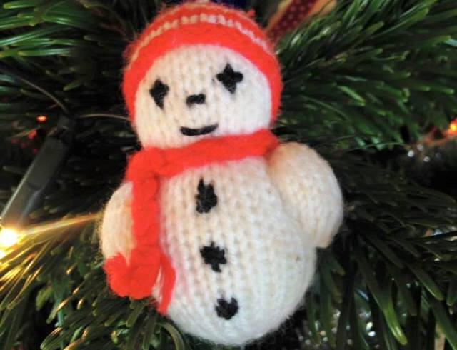 Christmas knitted snowman