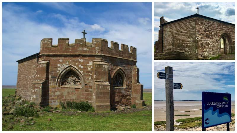 Cockersand Abbey near Ccokerham, Morecambe Bay - collage by Zoe Dawes